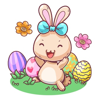 Simpatico personaggio dei cartoni animati di coniglio2