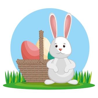 Carino coniglio buona pasqua