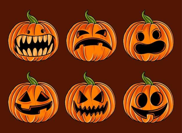 Zucca di halloween spaventosa carina