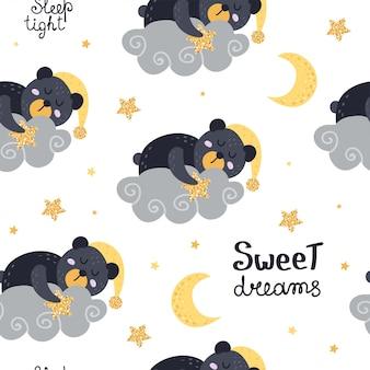 Carino seamless con orsi
