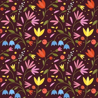 Simpatico motivo senza cuciture con piccoli fiori colorati