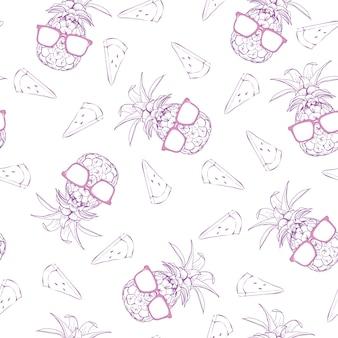 Carino seamless con ananas