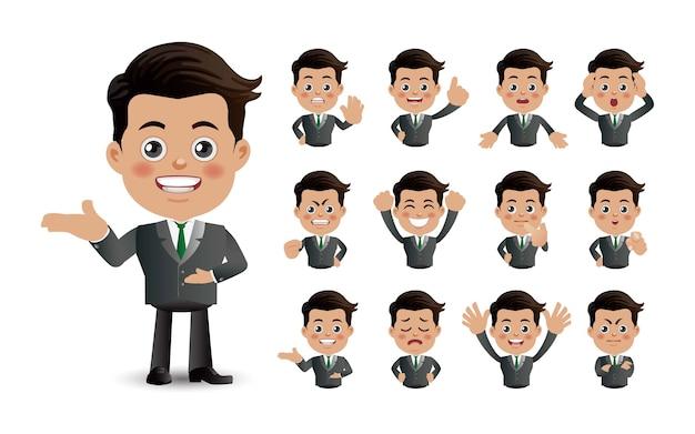 Set carino set di uomini d'affari