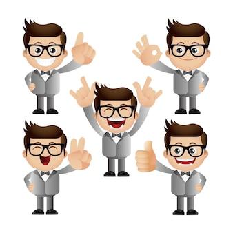 Set carino - set di uomo d'affari