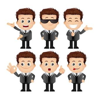 Set carino set di personaggi maschili