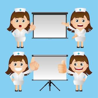 Insieme carino. set di infermiere.