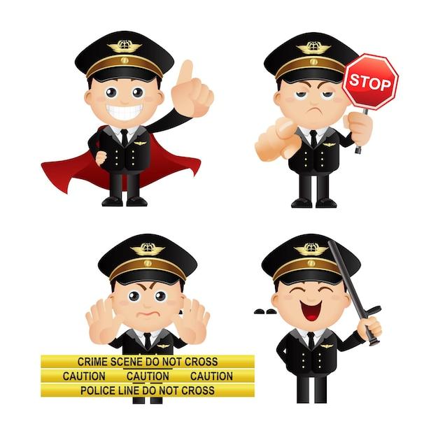 Set carino set di poliziotto