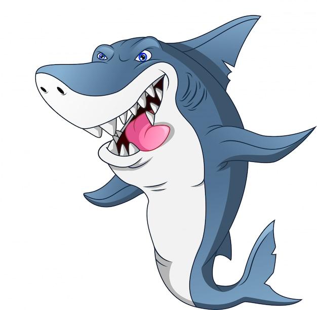 Cartone animato carino squalo