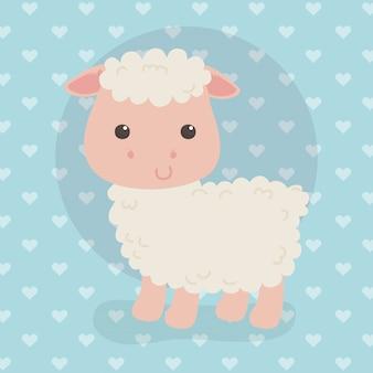 Simpatico personaggio di allevamento di pecore
