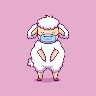 Pecore sveglie usando l'illustrazione del fumetto della maschera