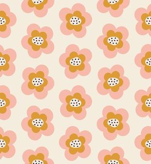 Modello senza cuciture carino fiori semplici