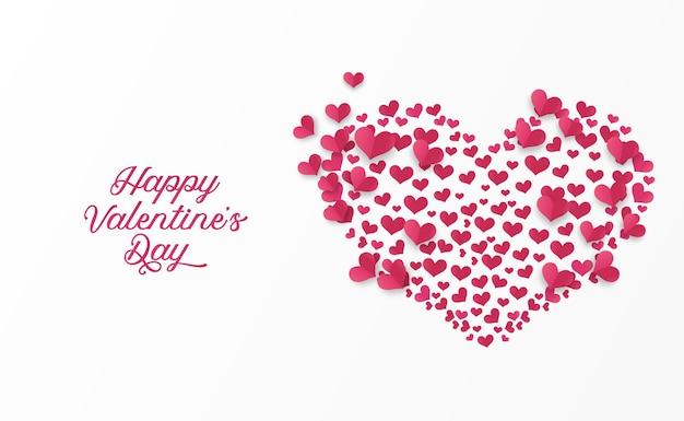 Carino semplice amore a forma di cuore per biglietto di auguri di san valentino