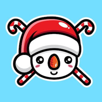 Simpatico personaggio pupazzo di neve