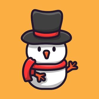Simpatico pupazzo di neve di natale
