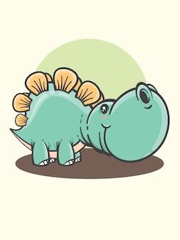 Simpatico cartone animato stegosauro