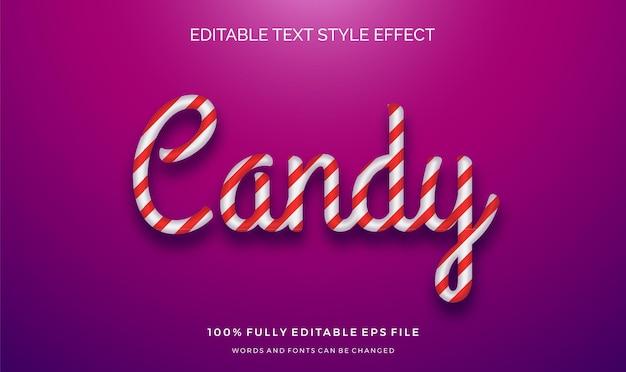Effetto di stile di testo a strisce carino. caratteri di modifica modificabili.