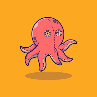 Simpatico disegno di illustrazione vettoriale di calamari ripieni