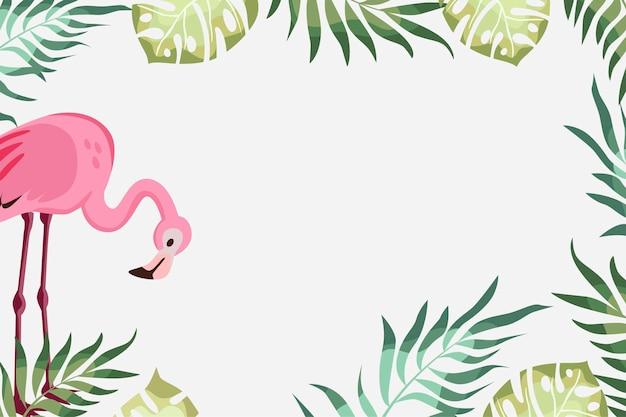 Illustrazione di banner estivo carino