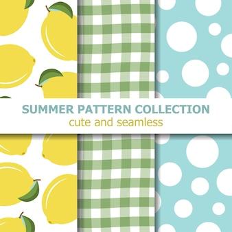 Simpatica collezione di modelli estivi. tema di limone.