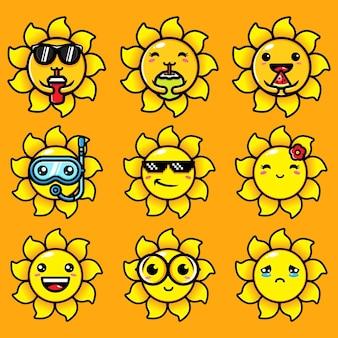 Simpatico set di fasci di sole