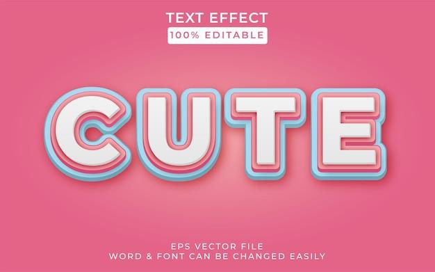 Stile effetto testo carino effetto testo modificabile