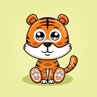 Illustrazione sveglia del fumetto della tigre