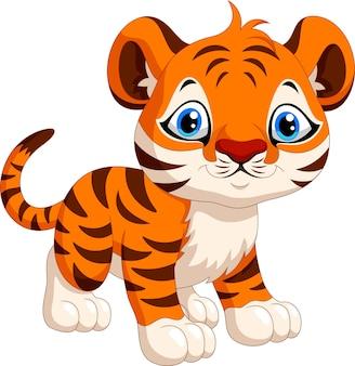 Cartone animato carino tigre