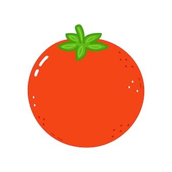 Simpatico personaggio di pomodoro