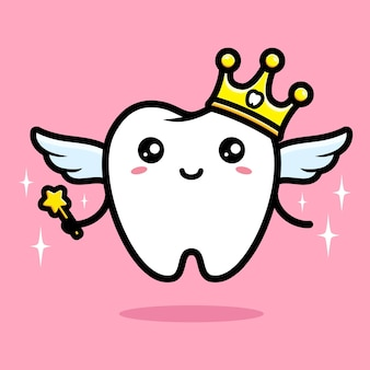 Simpatico personaggio di fatina dei denti