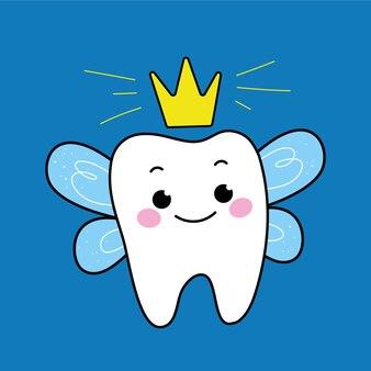 Una simpatica fatina dei denti.