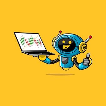 Simpatico personaggio di robot commerciale illustrazione