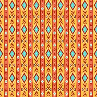 Modello senza cuciture giallo e blu a strisce tribali carino