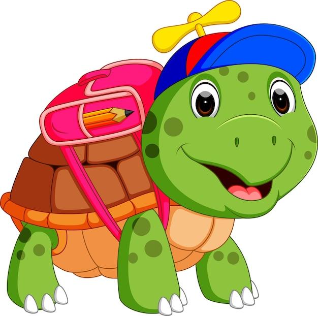 Tartaruga carina andare a scuola