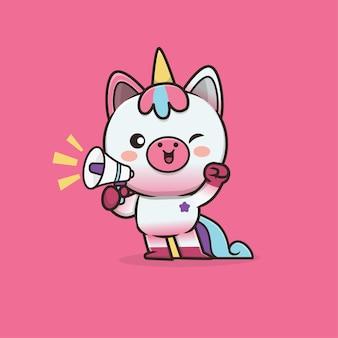 Simpatico personaggio di unicorno