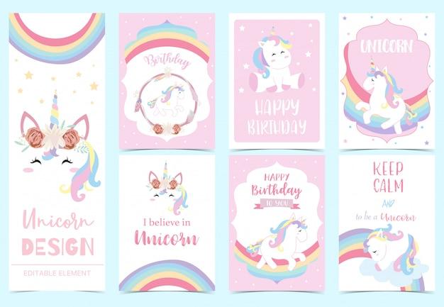 Invito di unicorno carino per bambino