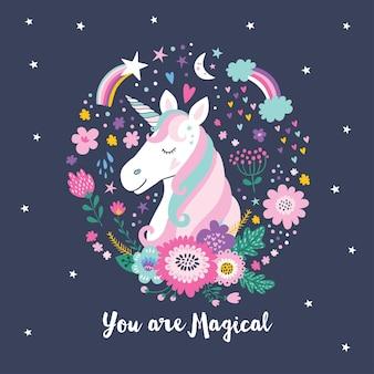 Unicorno carino. unicorno magico