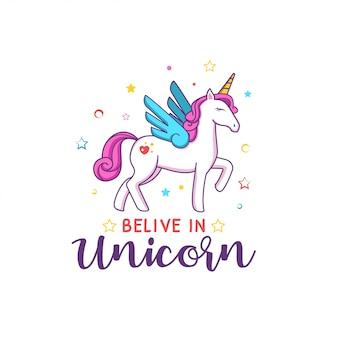 Citazioni unicorno carino di ispirazione per i bambini