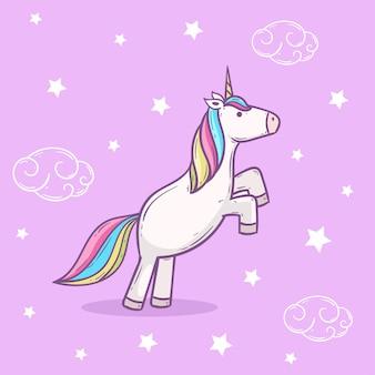 Illustrazione di arcobaleno unicorno carino