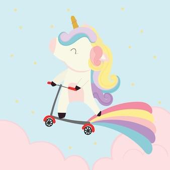 Carino vettore unicorno.