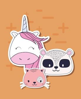 Simpatico disegno di unicorni