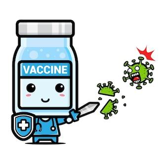 Simpatica mascotte vaccino contro il virus