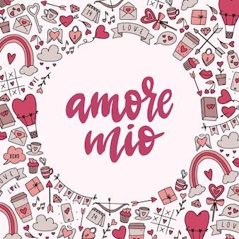 Citazione di san valentino carina 'amore mio'