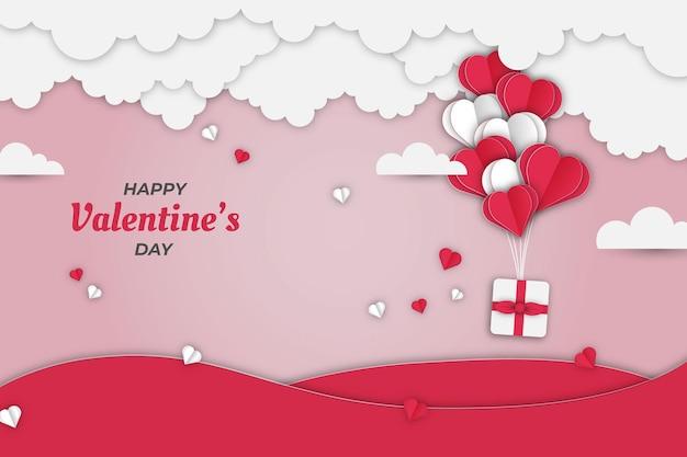 Confezione regalo di san valentino carino sul cielo