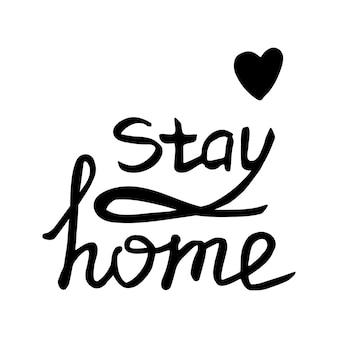 Simpatiche lettere disegnate a mano vettoriali su coronavirus, covid-19, stay home, lavoro a casa. protezione pandemica. icone di scarabocchio positivo in quarantena, elementi domestici. isolato su sfondo bianco.
