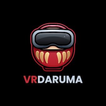 Simpatico logo daruma in realtà virtuale
