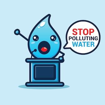 Carino acqua sta facendo un discorso