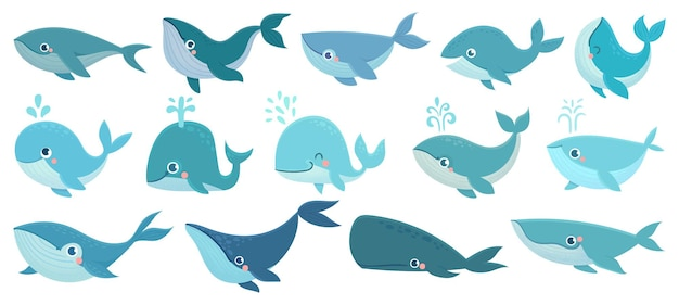 Set di balene carine