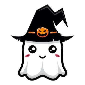 Simpatico disegno del personaggio del fantasma della strega