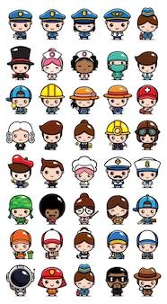 Simpatico pacchetto di personaggi dei lavoratori