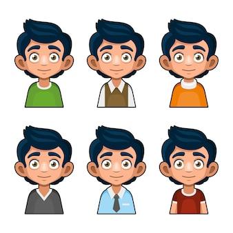 Carattere di avatar giovane carino.